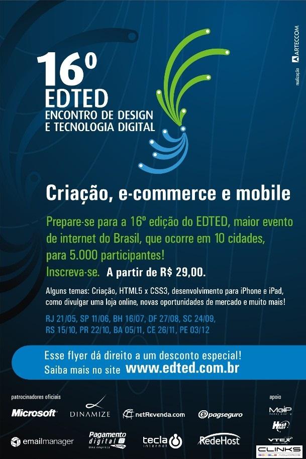 16º EDTED - Encontro de Desing e Tecnologia Digital - Clinks é apoiadora desse evento