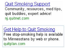Campanha de Link Patrocinado de Combate ao Fumo