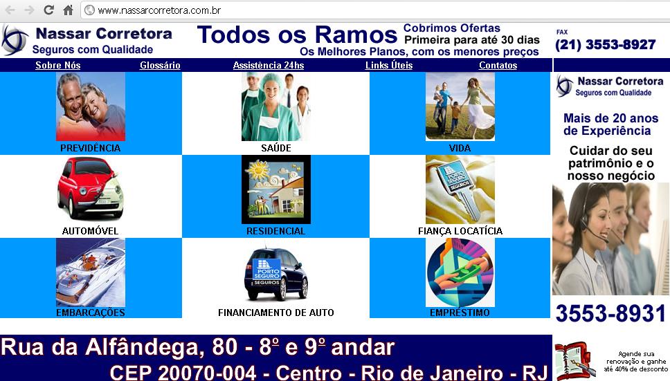 Exemplo de site que utiliza espelhamento