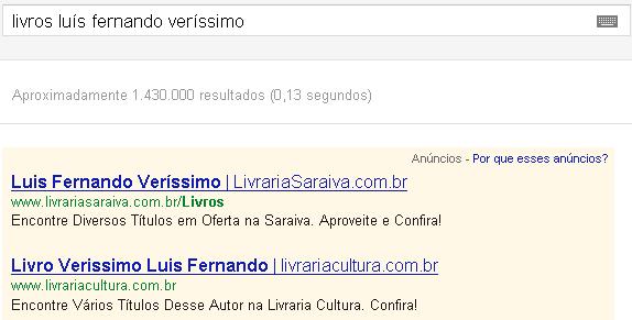 Pesquisa de nomes próprios no Google AdWords