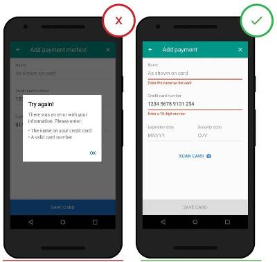 Otimize formulários por informar erros em tempo real