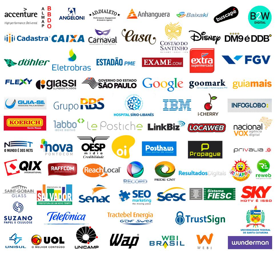 Profissionais dessas empresas baixaram os ebooks da CLINKS