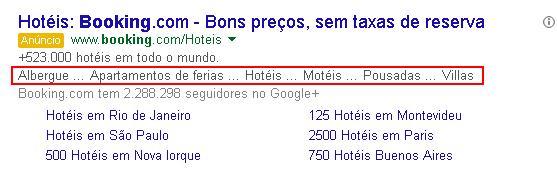 Extensões de frase de chamariz nos Links Patrocinados do Google Ads