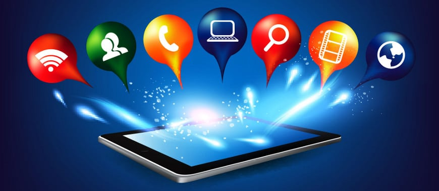 Formatos de anúncios de conteúdo digital aplicativo