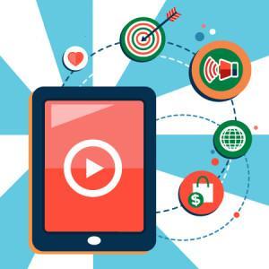 Galeria dos anúncios e Ads para vídeo