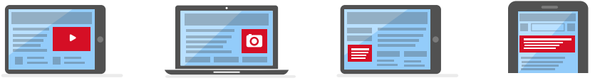 Anúncio em vídeo, imagem, texto e mobile