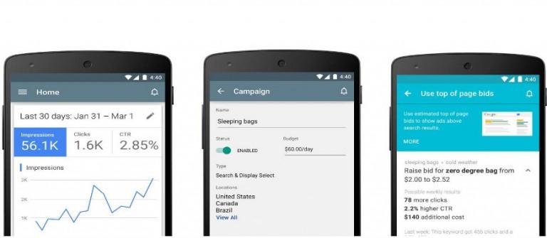 Novos Recursos do Aplicativo do Google Ads