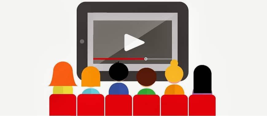 Cartões do YouTube em publicidade de links patrocinados para vídeos