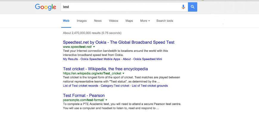 Google testando deslocamento infinito de resultados de busca