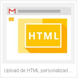 Upload html personalizado no gmail