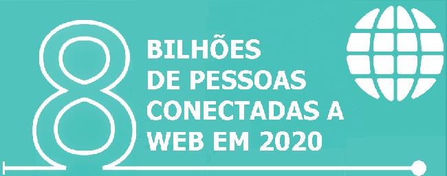 8 bilhões de internautas em 2020
