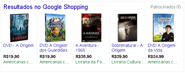 Anunciar dvd e bluray no google shopping