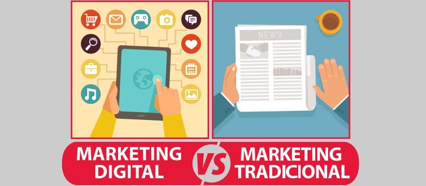 Marketing digital vs publicidade tradicional