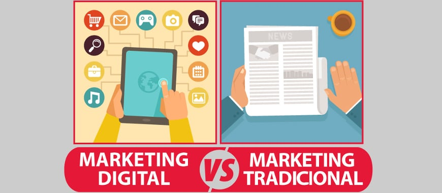 Marketing digital vs publicidade tradicional