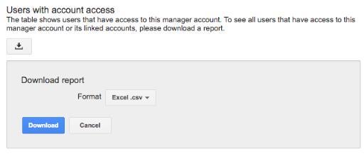 Download relatório acesso ao Google Ads