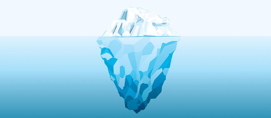Efeito iceberg anunciar google