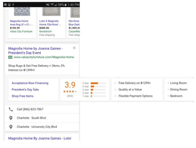 Cartões deslizantes google adwords