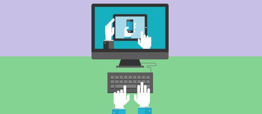 Diferentes dispositivos computador mobile