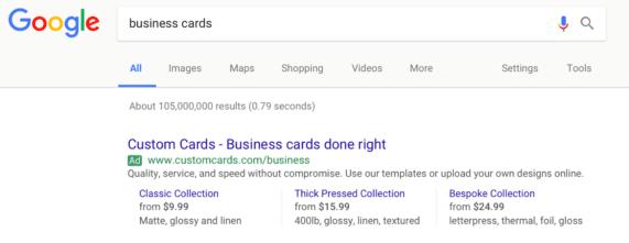 Extensões de preços google adwords