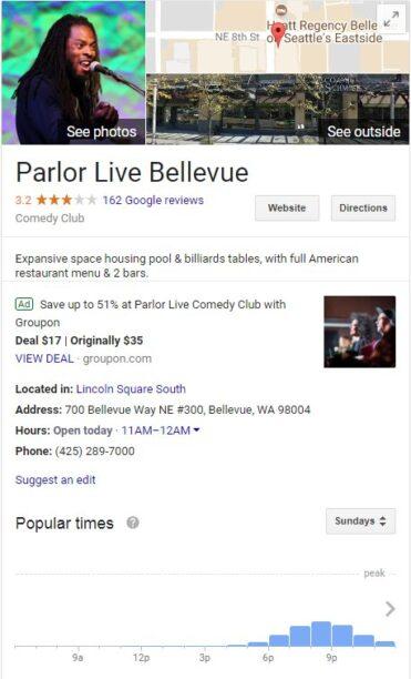 Painel do conhecimento google