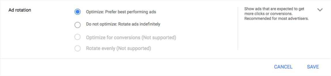 Rotação de anúncios