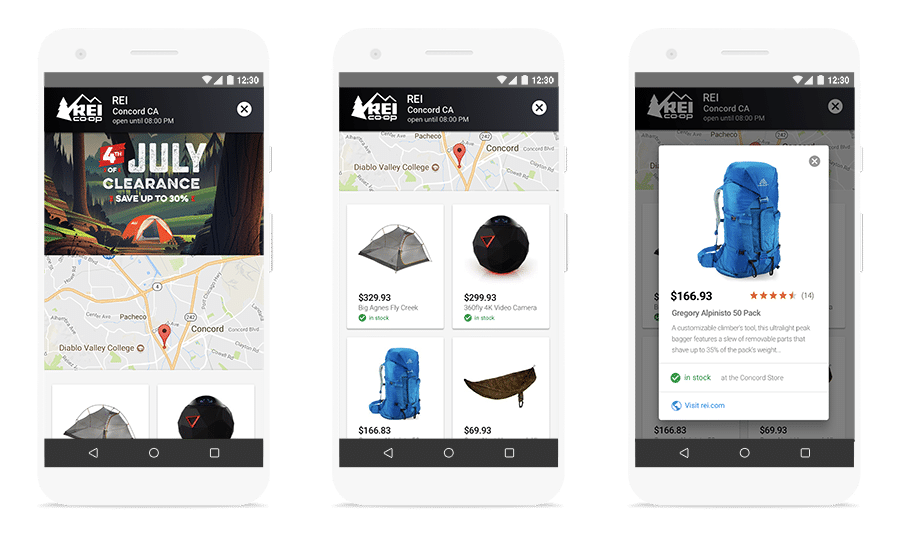 Anúncios Inventário Local Google Shopping