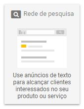 Campanhas Google Ads - Rede de Pesquisa