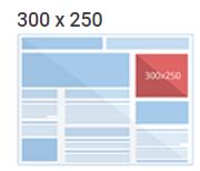 Tamanho anúncio 300x250