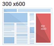 Tamanho anúncio 300x600