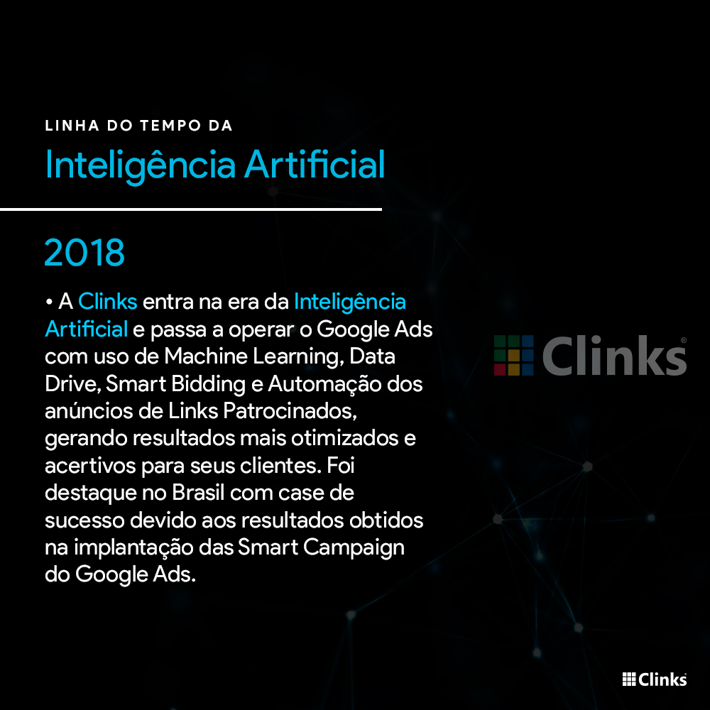 Clinks - Inteligência Artificial, Machine Learning, Smart Bidding, Data Drive, Automação.
