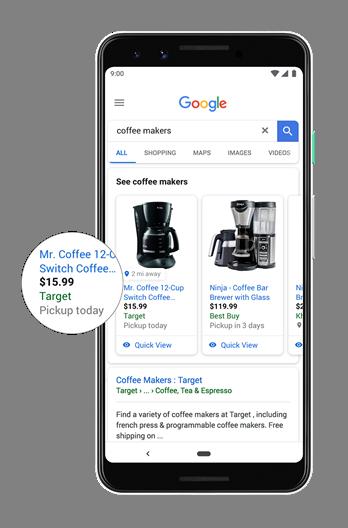 Novo Google Shopping e retirada de produto em loja física