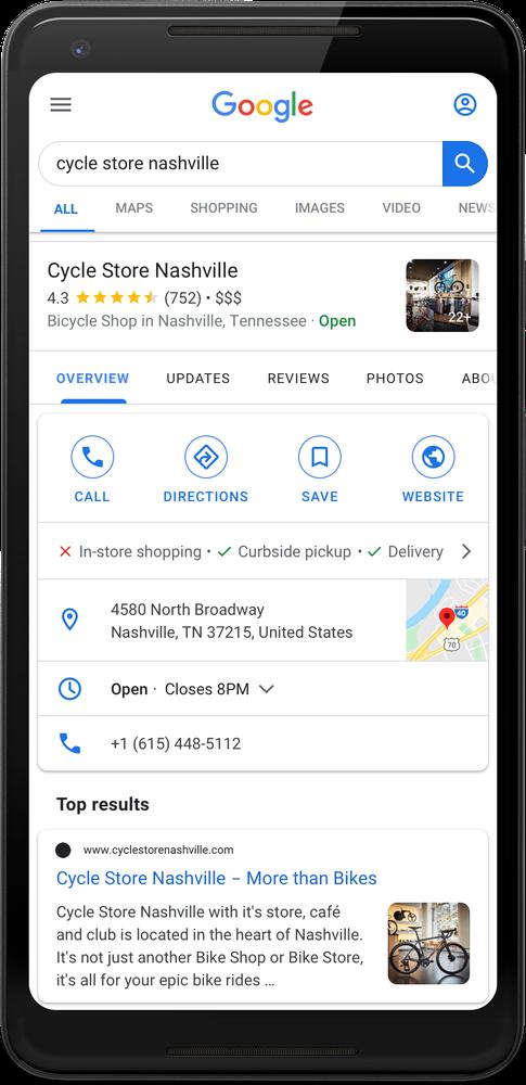 coleta calçada google meu negocio