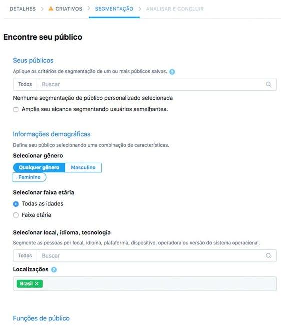 Configurar públicos-alvo Twitter Ads