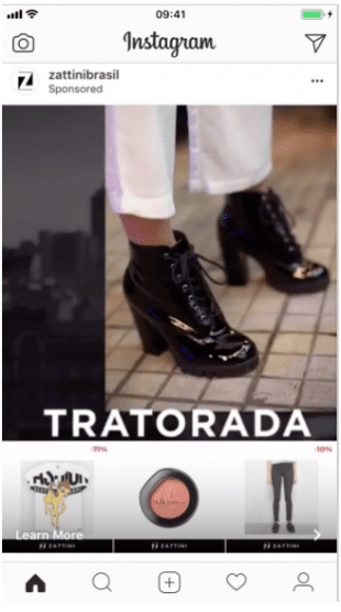 anúncios de coleção no instagram