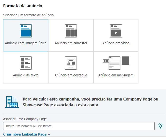 Formatos anúncios linkedin
