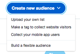 Públicos personalizados remarketing twitter