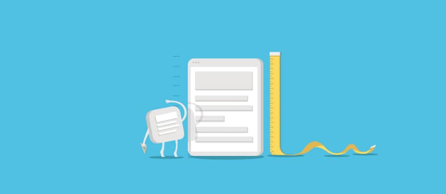 tamanho ideal blog posts