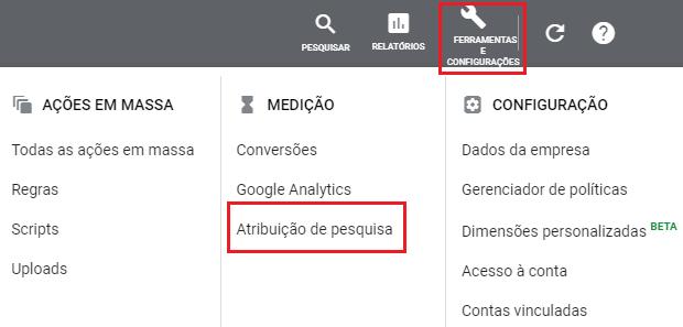 Atribuição de Pesquisa google ads