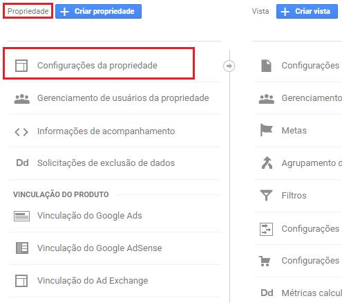 vincular search console ao google analytics