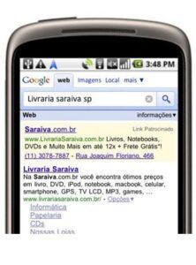 Os anúncios locais são melhorados com a exibição de números de telefone em celulares.