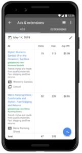 App do Google Ads é atualizado e permite criar anúncios de pesquisa responsivos, definir lances, encontrar palavras-chave e visualizar palavras-chave com baixo desempenho.