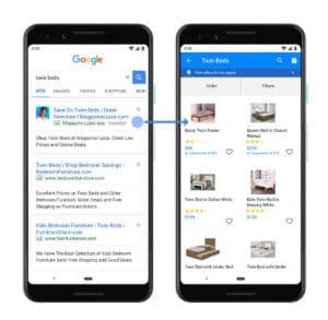 Google divulga Anúncios Vinculados a Aplicativos Instalados que direcionam as pessoas para as páginas certas dos apps.