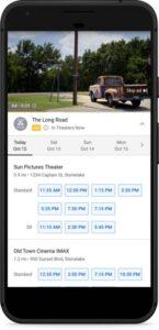 Extensões de local no YouTube começam a exibir os próximos horários de filmes, apresentações em cinemas e próximos horários de voos.