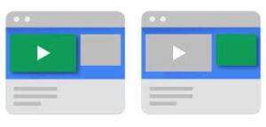 Os primeiros anúncios em vídeo no YouTube são apresentados.