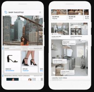 Surge o carrossel de produtos do Google Shopping – um grupo de imagens que é ativado quando o usuário clica na imagem principal do anúncio.