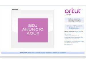 Novo formato de anúncio começa a aparecer na página de logout do Orkut.